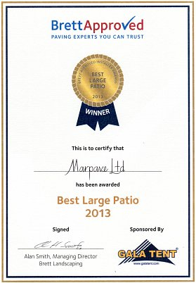 Best Large Patio category