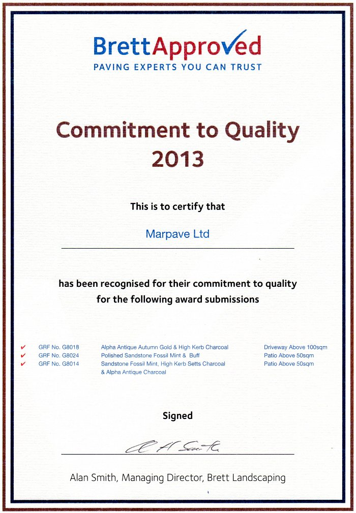 Commitment to Quality Award