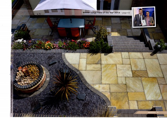 Brett Landscaping 2015 Brochure Best Large Patio 2014 page 37